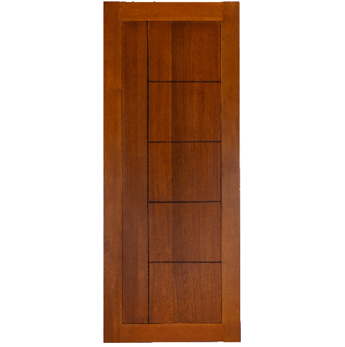 BEST ประตูไม้สยาแดงเซาะร่อง  90x200 ซม.  GP-05