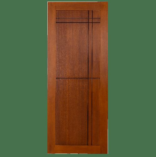 BEST ประตูไม้สยาแดงบานทึบ  ขนาด 90x200 ซม. GP-03