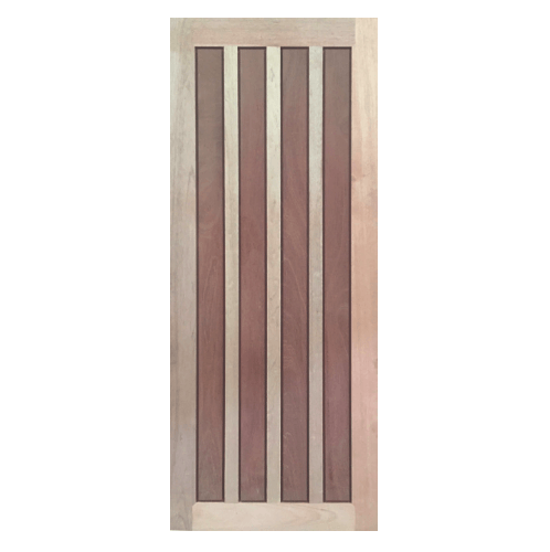 BEST ประตูไม้สยาแดงบานทึบ ขนาด 80x200 ซม. GS-39 ไม้ธรรมชาติ