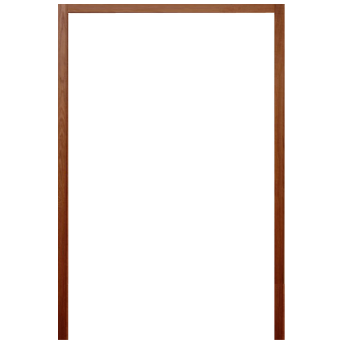 BEST วงกบประตูไม้เนื้อแข็งพร้อมซับ ขนาด 145x210 ซม. ทำสี