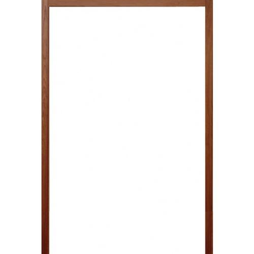 BEST วงกบประตูไม้เนื้อแข็งพร้อมชุดรางเลื่อน(เลื่อน2บาน)  ขนาด180x220cm.