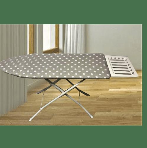 SAKU โต๊ะรีดผ้ายืนรีด ขนาด35x123x80ซม.ปรับความสูง 6ระดับ จัมโบ้ โครงไม้อัด สีเทาอ่อน
