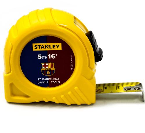STANLEY ตลับเมตร ขนาด 5m. โกลบอลเทป บาร์เซโลน่า สีเหลือง
