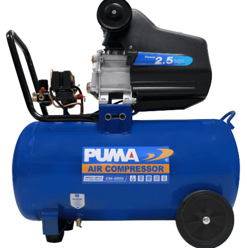 PUMA ปั๊มลมโรตารี่ 2.5HP ขนาด 50L  CM2550 น้ำเงิน