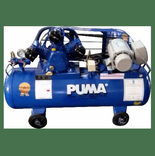 PUMA ปั้มลมสายพานพร้อมมอเตอร์ 148 ลิตร 220 โวลต์ PP32-WM น้ำเงิน-เทา