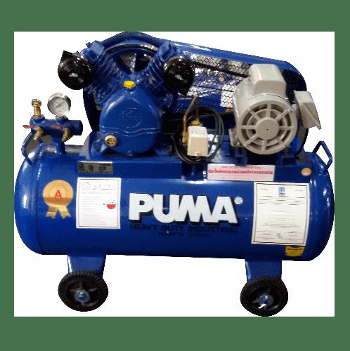 PUMA ปั้มลมสายพานพร้อมมอเตอร์ 92 ลิตร 220 โวลต์ PP21-WM น้ำเงิน-เทา