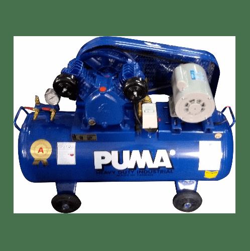 PUMA ปั้มลมสายพานพร้อมมอเตอร์ 64 ลิตร 220 โวลต์ PP2-WM น้ำเงิน-เทา