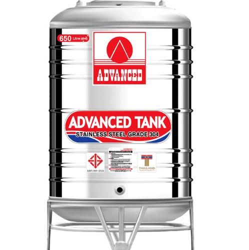 ADVANCE ถังเก็บน้ำสเตนเลส ก้นนูน  AV 650 ลิตร (มอก.)