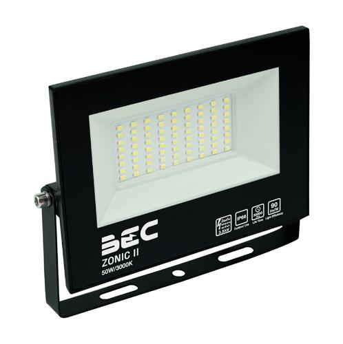 BEC โคมฉาย LED ฟลัดไลท์ 50W  แสงวอร์มไวท์  ZONIC 50W/3000K  null