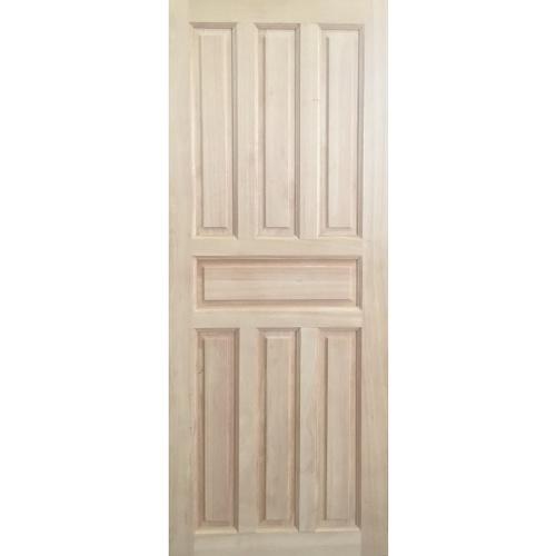 JP.W. ประตูไม้เนื้อแข็ง 7 ฟัก ขนาด 80x200cm.   โมเดิร์น