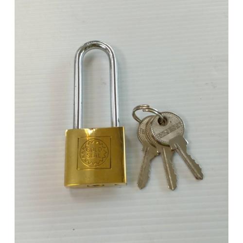 GOLDSEAL กุญแจทองเหลือง คอยาว  ขนาด  32 mm.