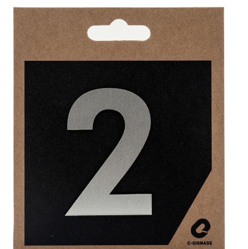 C Signage ป้ายอลูมิเนียม  (ตัวเลข 2) (แบบด้าน) CSLS-A 2002