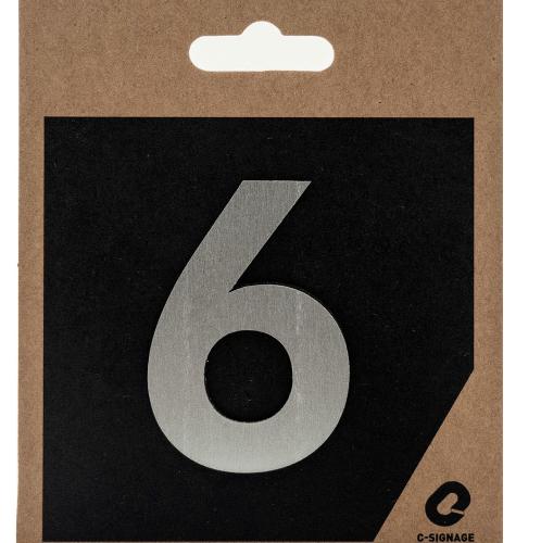 C Signage ป้ายอลูมิเนียม  (ตัวเลข 6) (แบบด้าน) CSLS-A 2006