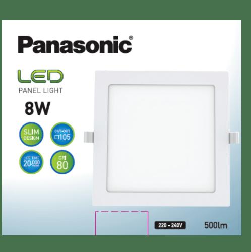 PANASONIC หลอด LED พาแนล 8 วัตต์ แบบเหลี่ยม ซอฟต์วอร์ม NNP722573