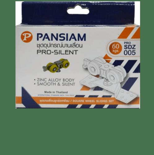 Pansiam ชุดลูกล้อรางเลื่อน 60 Kgs. Pro-sdz005 ขาว-เหลือง