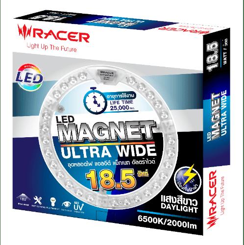 Racer หลอดไฟ แอลอีดี แม็กเนท อัลตร้าไวด์ 18.5W 6500K แสงขาว  MAGNET ULTRA WIDE สีขาว