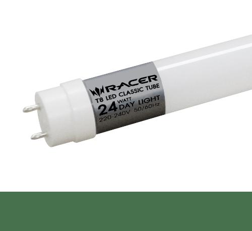 Racer หลอดไฟ T8 แอลอีดี คลาสสิค 24 วัตต์ ขั้ว G13 แสงขาว