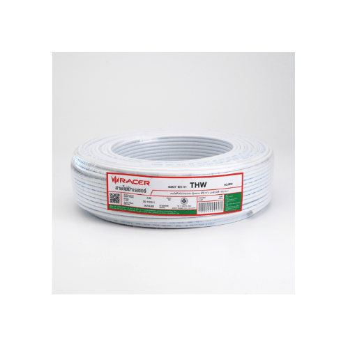 RACER สายไฟ IEC 01 THW  1x2.5 sq.mm 30 M.  White - สีขาว