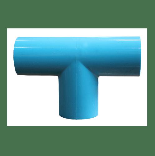 สามบ้าน สามทางฉาก PVC 2 นิ้ว (55) อย่างบาง CL8.5 สีฟ้า