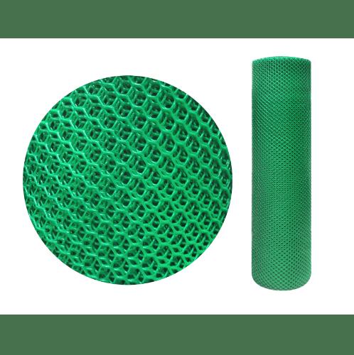 Leo Net ตาข่ายพลาสติกหกเหลี่ยม 12มิล  ขนาด 30x0.9ม.  #328 สีเขียว