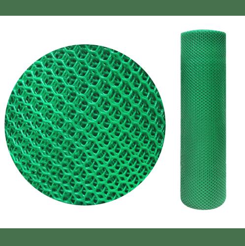 Leo Net ตาข่ายพลาสติกหกเหลี่ยม  9มิล 30x0.9ม.  #330 สีเขียว