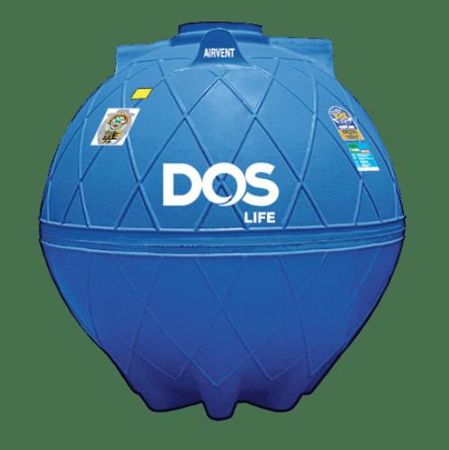 DOS ถังเก็บน้ำใต้ดิน 3000L  DUT EXTRA สีน้ำเงิน