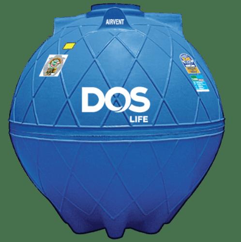 DOS ถังเก็บน้ำใต้ดิน 6000L  DUT EXTRA สีน้ำเงิน