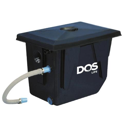 DOS ถังดักไขมันบนดิน DOS GT-01/BK-90L GREASE TRAP สีดำ