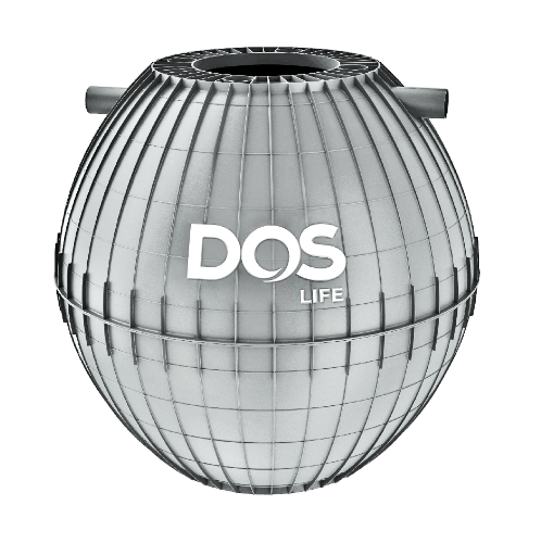 DOS ถังบำบัดน้ำเสีย 1600L ULTRA สีเทา