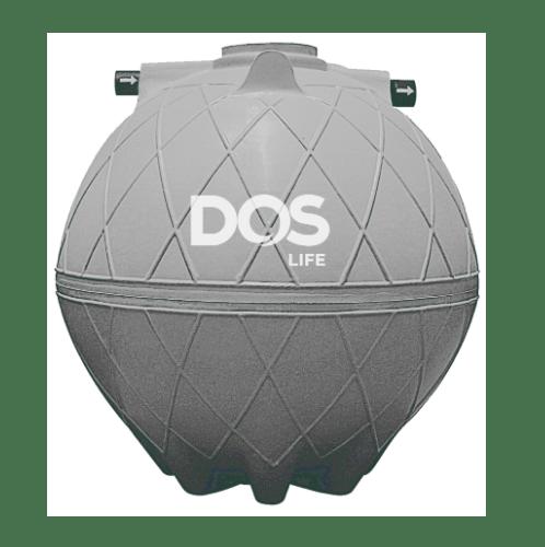 DOS ถังบำบัดน้ำเสีย 3000L  DOS COMPACT  สีเทาอ่อน
