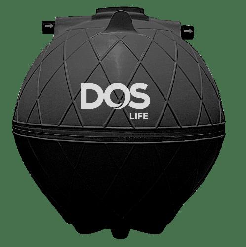 DOS ถังบำบัดน้ำเสีย 4000L SUPER SEPT สีดำ
