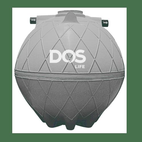 DOS ถังบำบัดน้ำเสีย 4000L  DOS COMPACT  สีเทาอ่อน