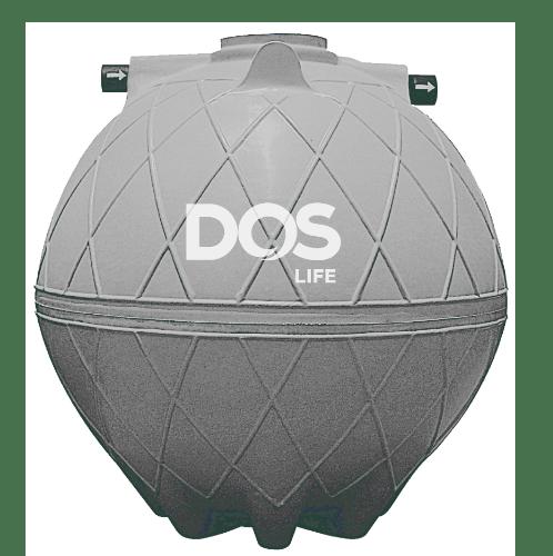 DOS ถังบำบัดน้ำเสีย 5000L  DOS COMPACT  สีเทาอ่อน