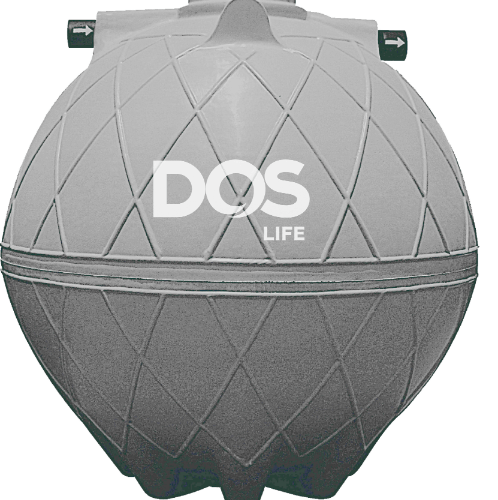 DOS ถังบำบัดน้ำเสีย 6000L  DOS COMPACT  สีเทาอ่อน