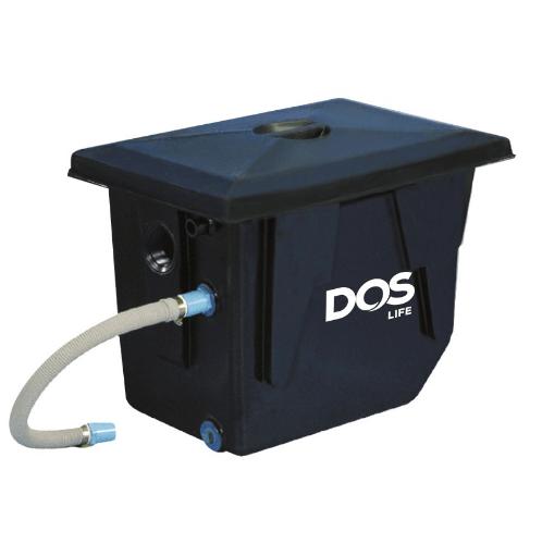 DOS ถังดักไขมันบนดิน DOS GT-01/BK-140L GREASE TRAP สีดำ