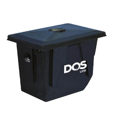 DOS ถังดักไขมันใต้ดิน GT-02/BK-140L GREASE TRAP สีดำ