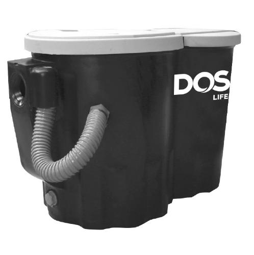 DOS ถังดักไขมันบนดิน CENTURY 120 P สีดำ