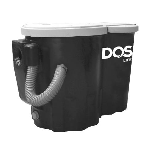 DOS ถังดักไขมันบนดิน  CENTURY 260 P สีดำ