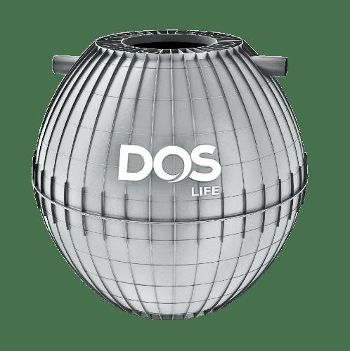 DOS ถังบำบัดน้ำเสีย DOS ULTRA 1000L ULTRA สีเทาอ่อน