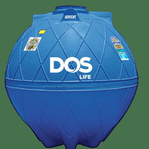 DOS ถังเก็บน้ำใต้ดิน 5000L  DUT GOLD สีน้ำเงิน