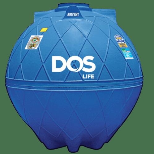 DOS ถังเก็บน้ำใต้ดิน 6000L  DUT GOLD สีน้ำเงิน