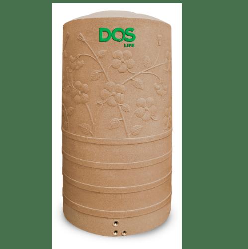 DOS ถังน้ำบนดิน 400L สีพิงค์โกลด์ CHABA NANO