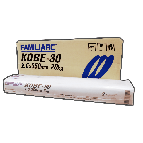 KOBE ลวดเชื่อมเหล็กเหนียว ขนาด 2.6X350mm.  KOBE-30 E6013  สีขาว