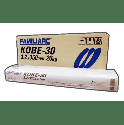 KOBE ลวดเชื่อมเหล็กเหนียว ขนาด 3.2X350mm.  KOBE-30 E6013    สีขาว
