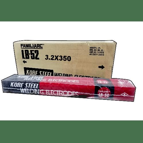 KOBE ลวดเชื่อมเหล็กเหนียว ขนาด 3.2X350mm.  LB-52 E7016