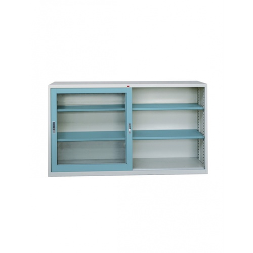 KING STAR ตู้บานเลื่อนกระจก4ฟุตสีฟ้า DG24 สีฟ้า
