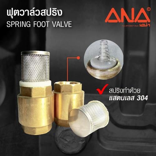 ANA ฟุตวาล์วสปริง (ถอดได้) 1.1/2 นิ้ว ก5F116-0-040-000-5-B