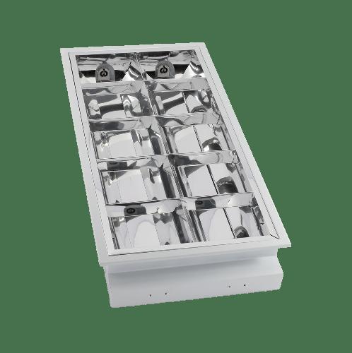 HI-TEK โคมฟลูออเรสเซนต์ฝังฝ้า 2X18วัตต์  HFIG3R0218