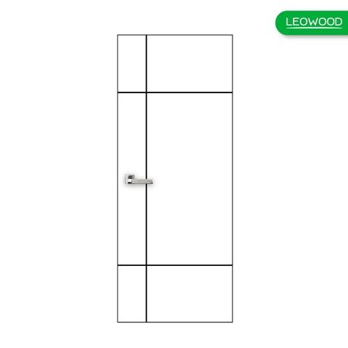 LEOWOOD ประตูปิดผิวเมลามีน  iDoor S6 ลาย 04  ขนาด 35x800x2000ซม. Pearl White (IP6478)