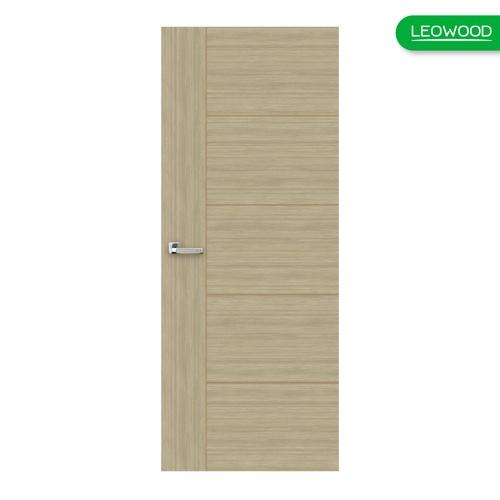 LEOWOOD ประตู iDoor  Series4-White Teak ขนาด  34x80x2150 มม.ภายใน สีครีม
